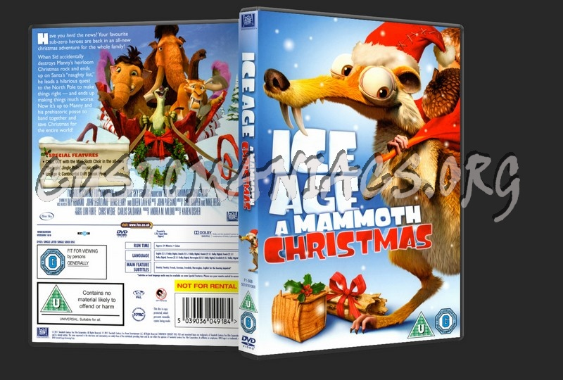 Ice Age: A Mammoth Christmas dvd cover