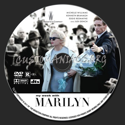 My Week With Marilyn dvd label