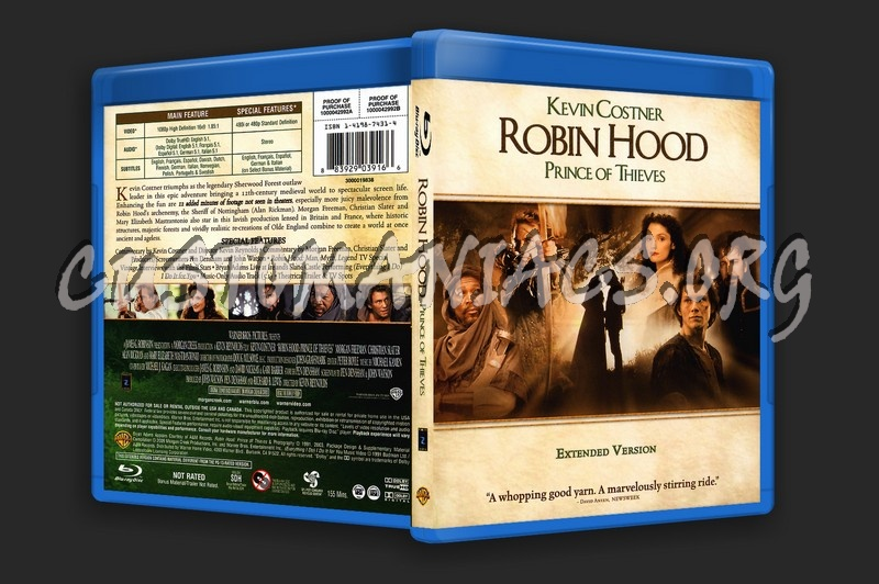 Robin Hood Prince of Thieves blu-ray cover