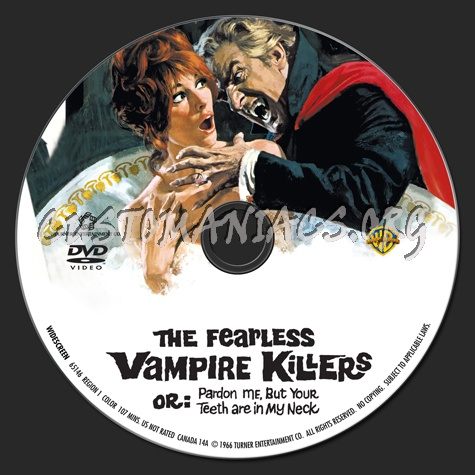 The Fearless Vampire Killers dvd label