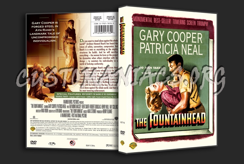 The Fountainhead dvd cover