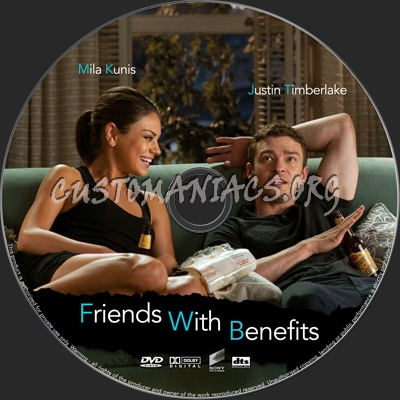 Friends With Benefits dvd label