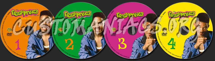 The Fresh Prince of Bel-Air Season 1 dvd label