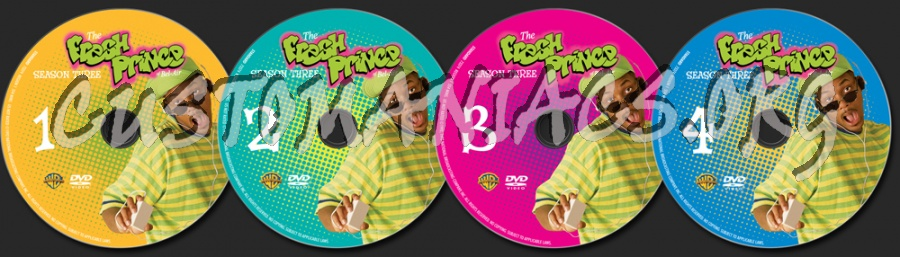 The Fresh Prince of Bel-Air Season 3 dvd label