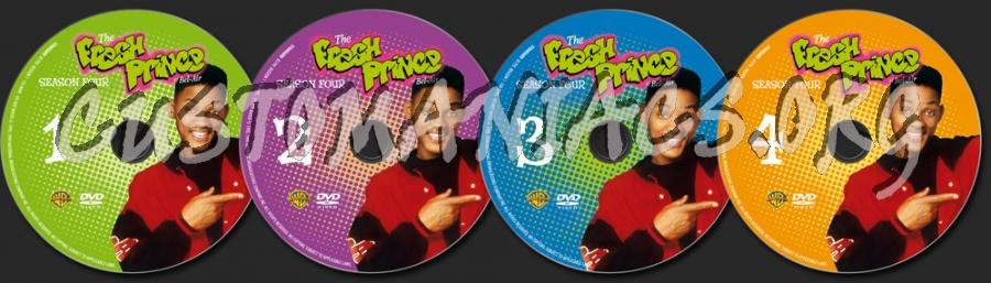 The Fresh Prince of Bel-Air Season 4 dvd label