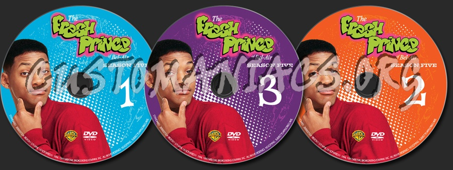 The Fresh Prince of Bel-Air Season 5 dvd label