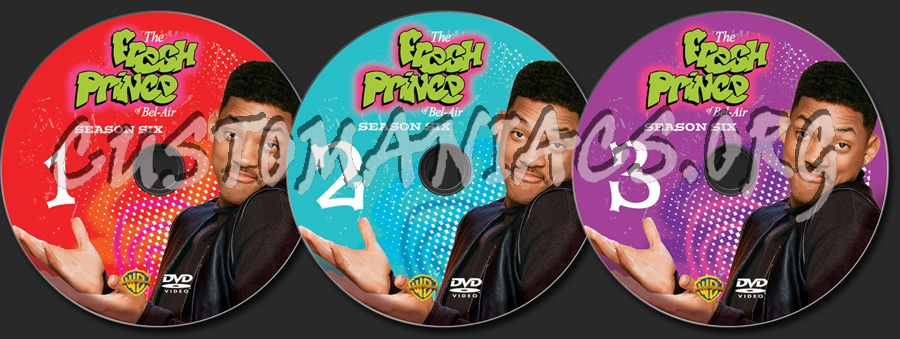 The Fresh Prince of Bel-Air Season 6 dvd label