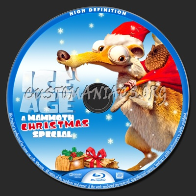 Ice Age A Mammoth Christmas.Ice Age A Mammoth Christmas Special Blu Ray Label Dvd