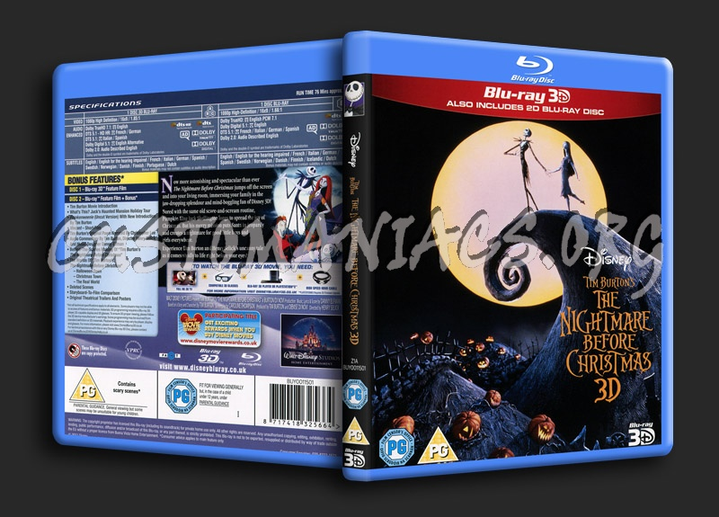 the nightmare before christmas 3d blu ray cover - Nightmare Before Christmas 3d