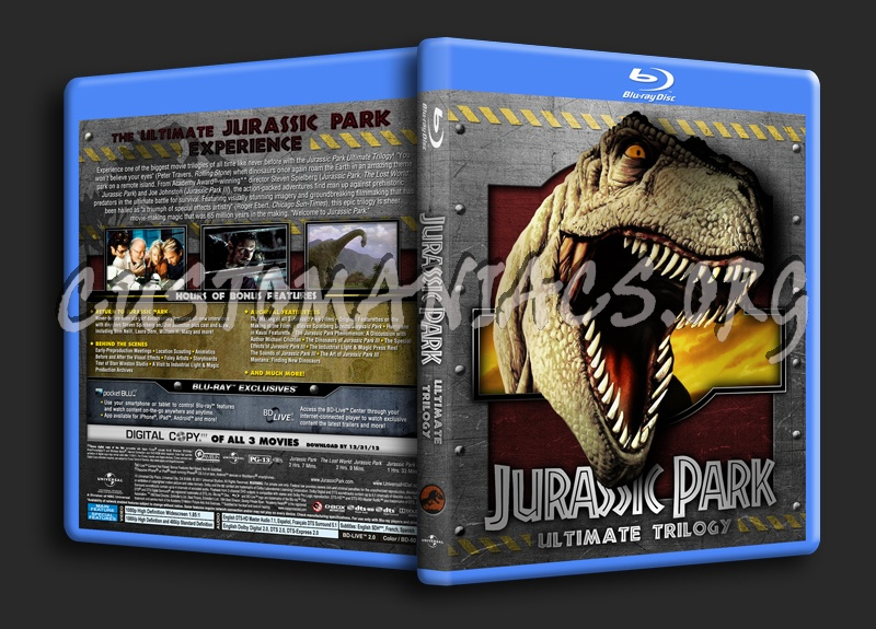 Jurassic Park - Ultimate Trilogy blu-ray cover