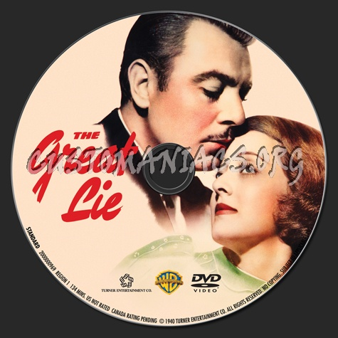 The Great Lie dvd label