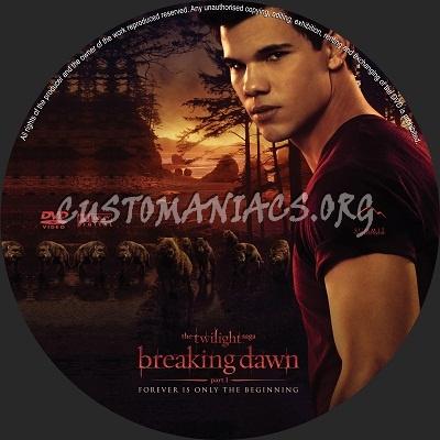 The Twilight Saga Breaking Dawn Part 1 dvd label