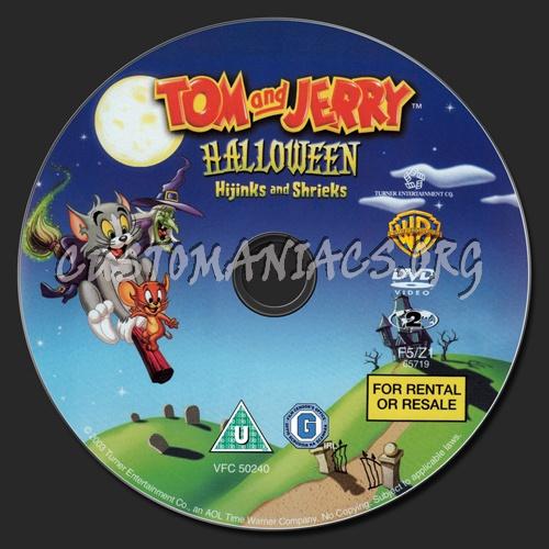 Tom and Jerry Halloween Hijinks and Shrieks dvd label