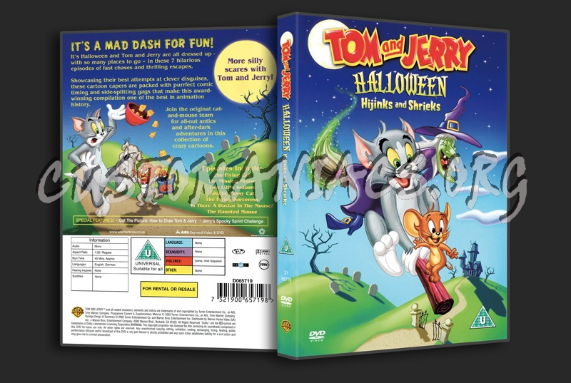 Tom And Jerry Halloween Hijinks and Shrieks dvd cover