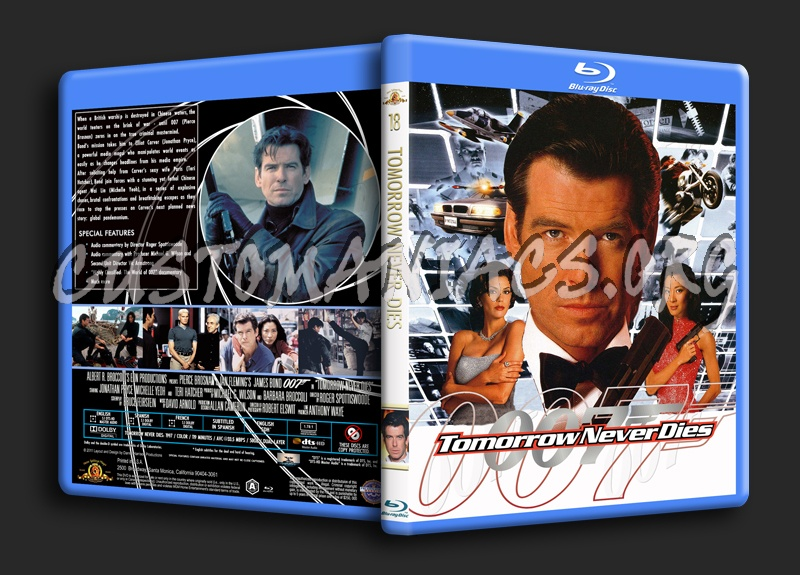 Tomorrow Never Dies blu-ray cover