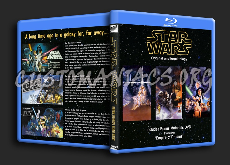 Star Wars Original Trilogy Theatrical Cuts Blu Ray Cover Dvd Covers Labels By Customaniacs Id 154334 Free Download Highres Blu Ray Cover