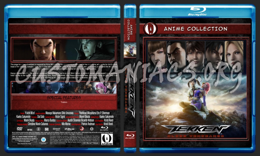 Anime Collection Tekken Blood Vengeance blu-ray cover
