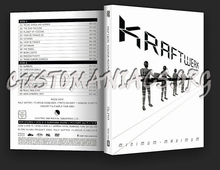 Kraftwerk - Minimum Maximum dvd cover
