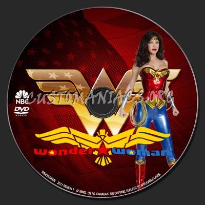Wonder Woman dvd label