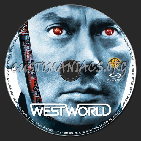 Westworld blu-ray label