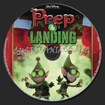 Prep & Landing dvd label