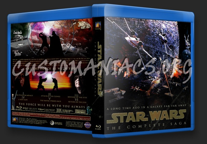 Star Wars - The Complete Saga blu-ray cover