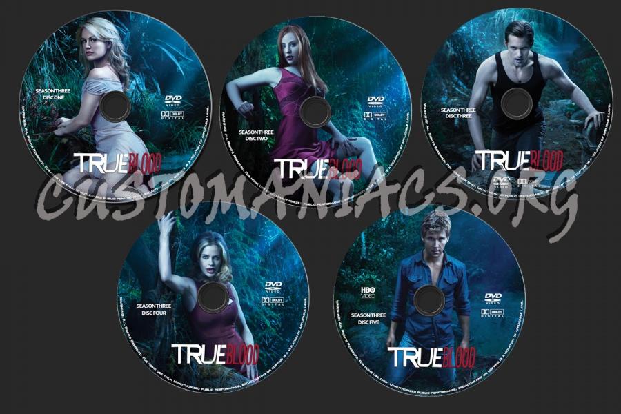 True Blood Season 3 dvd label