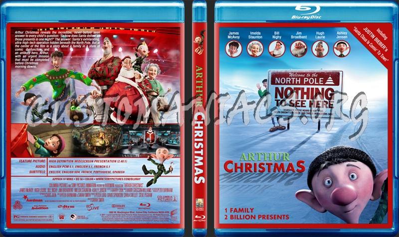 arthur christmas blu ray cover - Arthur Christmas Dvd