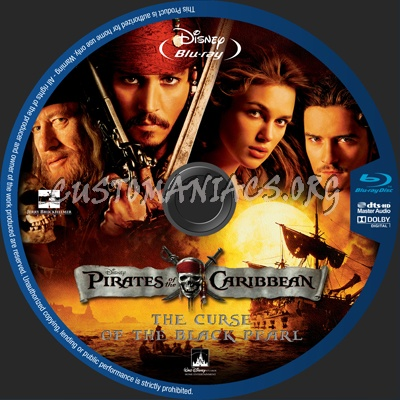Pirates Of The Caribbean Collection blu-ray label