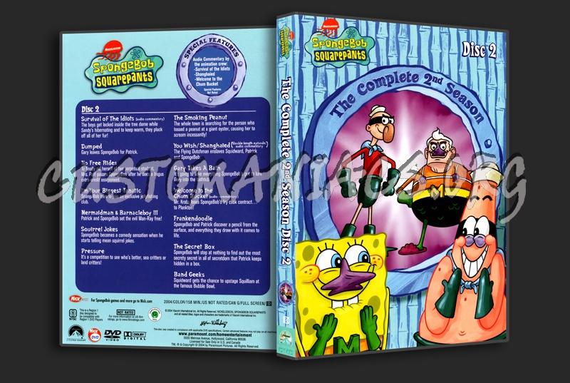 Spongebob Squarepants Season 2 Disc 2 dvd cover