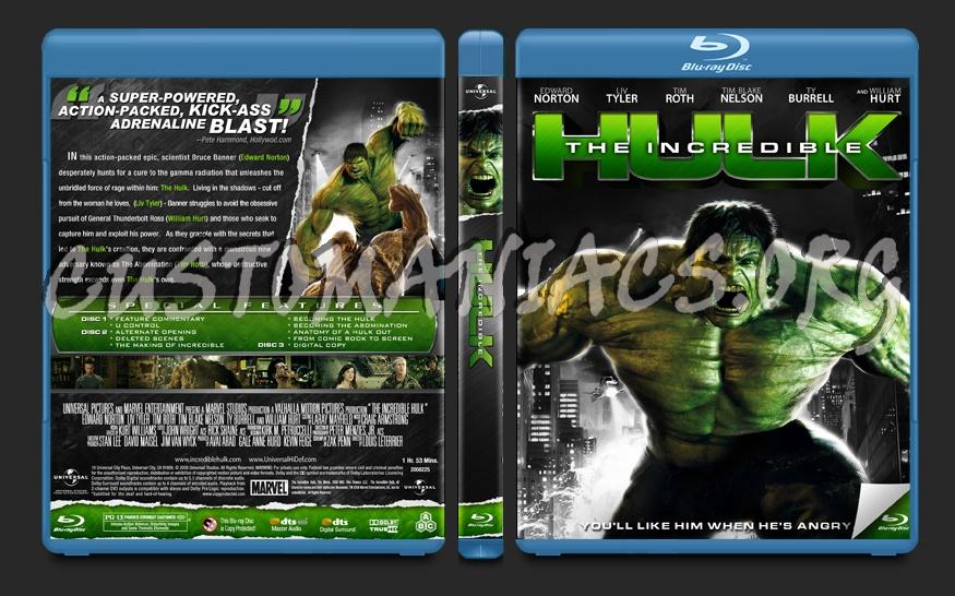 The Incredible Hulk blu-ray cover