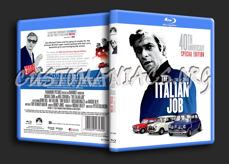 The Italian Job 1969 Blu Ray Cover Dvd Covers Labels By