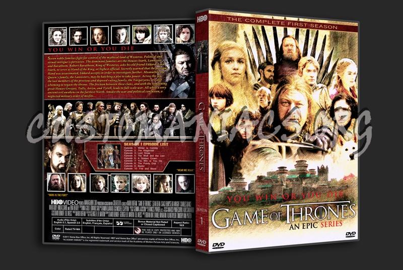 Game Of Trone Season 1 Dvd Cover: Game Of Thrones Season 1 Dvd Cover