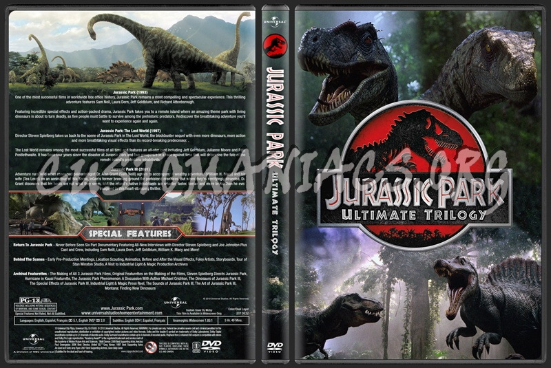 Jurassic Park Ultimate Trilogy dvd cover