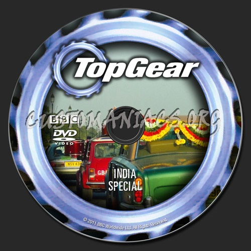 Top Gear India Special dvd label