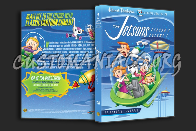 The Jetsons Season 2 Volume 1 dvd cover