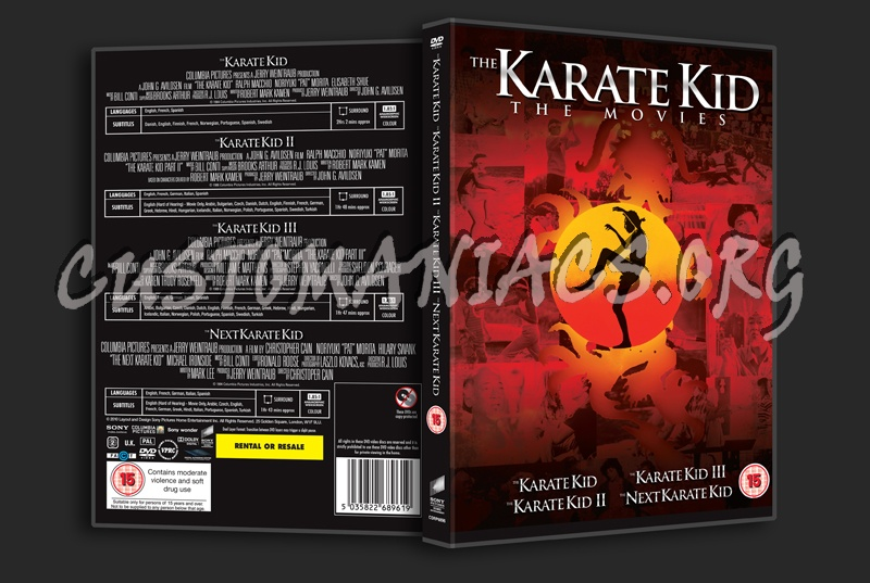 The Karate Kid Movies dvd cover