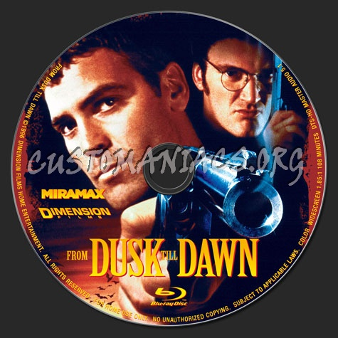 From Dusk Till Dawn blu-ray label