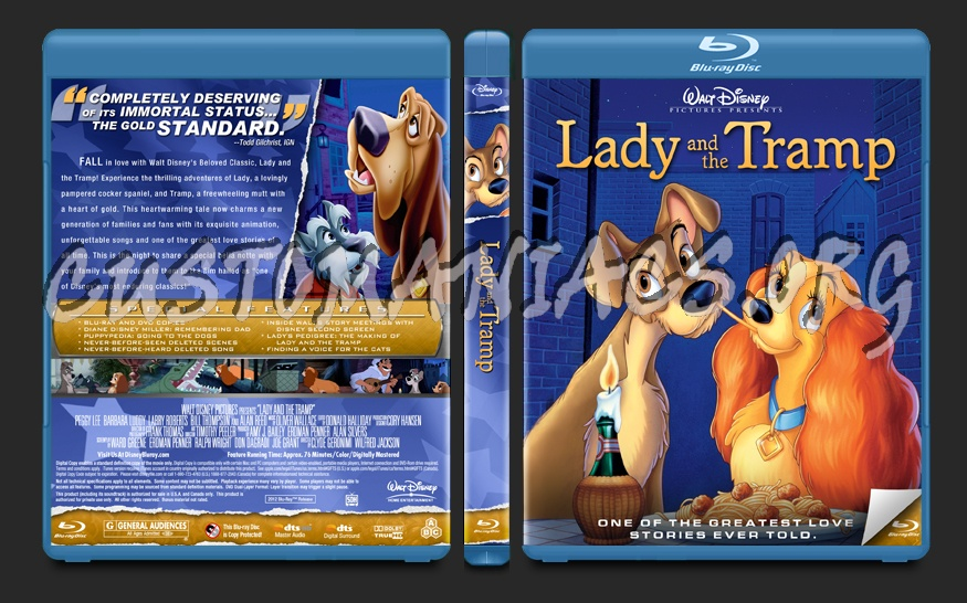 Lady and the Tramp blu-ray cover