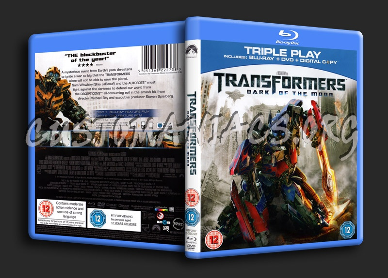Transformers Dark of the Moon blu-ray cover