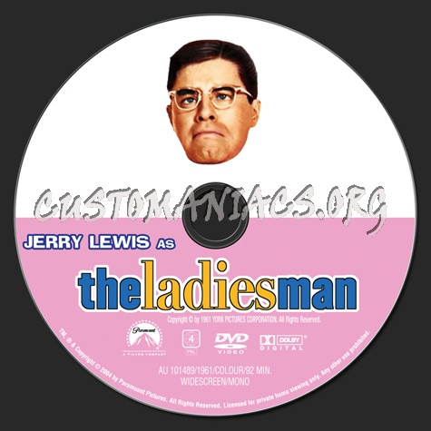 The Ladies Man (1961) dvd label