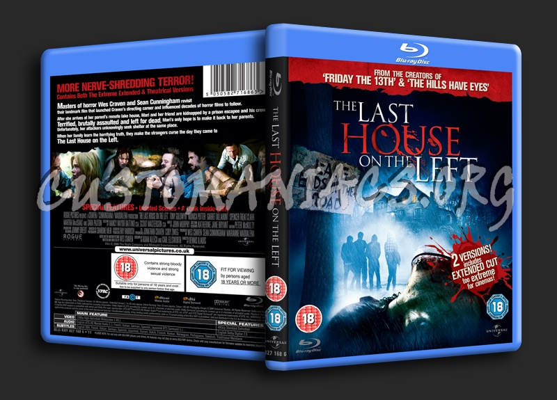 The Last House on the Left blu-ray cover
