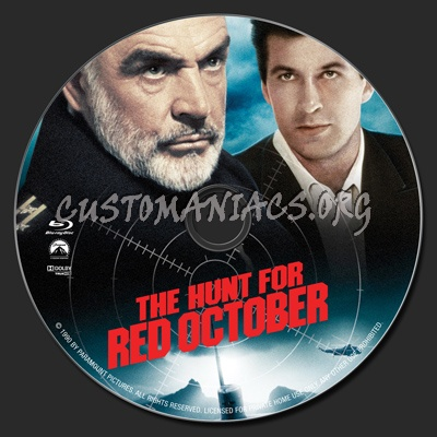 The Hunt For Red October blu-ray label