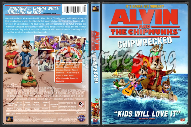 alvin and the chipmunks chipwrecked dvd cover dvd covers labels
