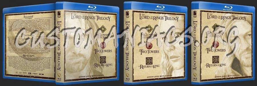 Lord Of The Rings Extended Collection blu-ray cover