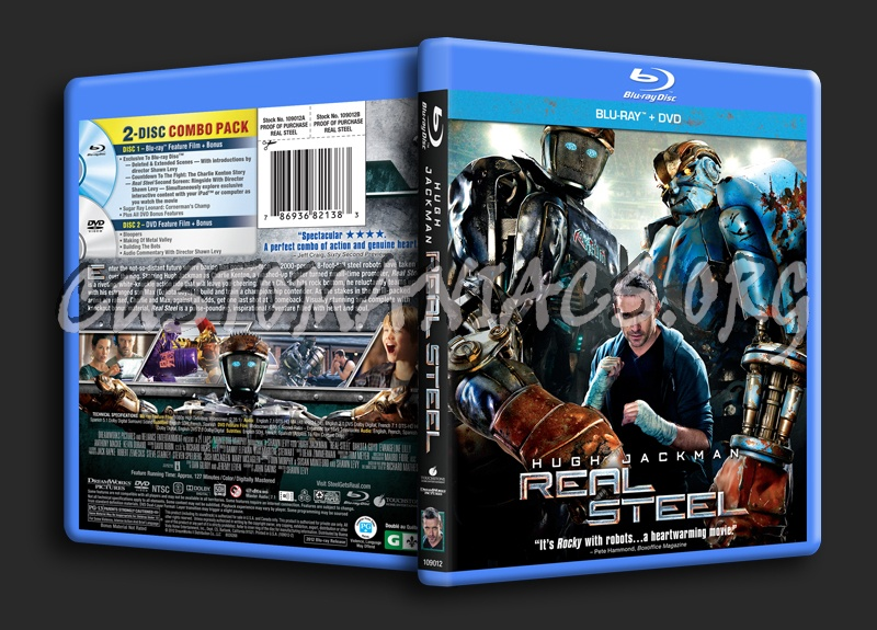 Real Steel blu-ray cover