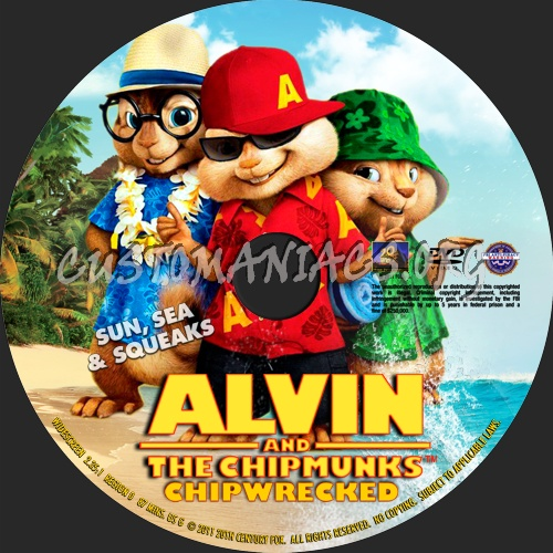 alvin and the chipmunks chipwrecked 2011 dvd label dvd covers