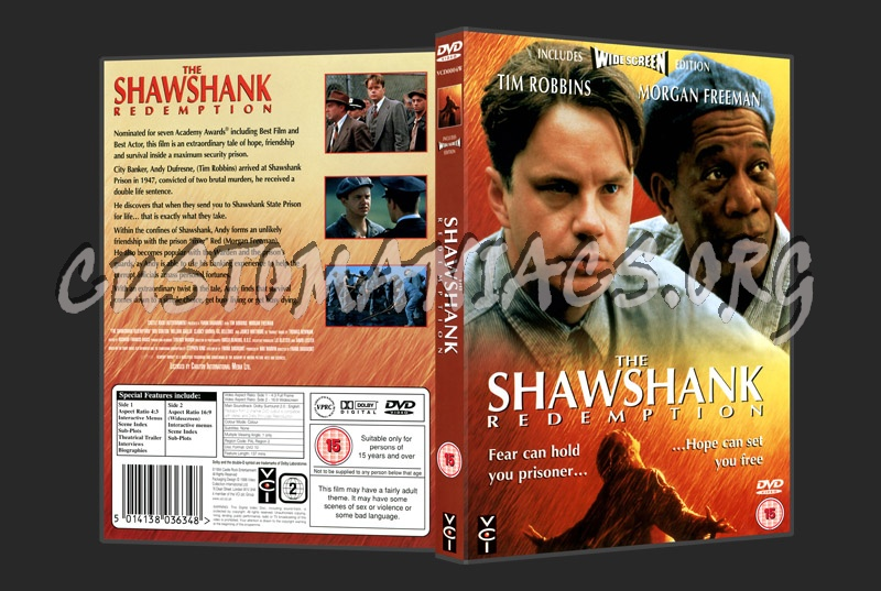 The Shawshank Redemption dvd cover - DVD Covers & Labels ...