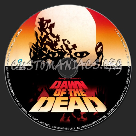 Dawn of the Dead (1978) blu-ray label
