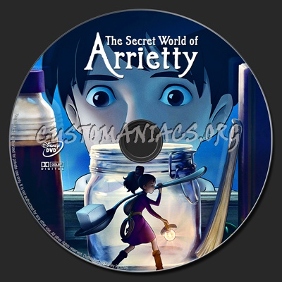 The Secret World of Arrietty dvd label